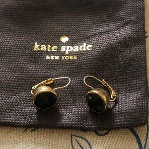 Kate Spade Black and Gold Drop Stud Earrings
